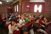 Poland, Krakow. Jewish heritage in Kazimierz. A Bar Mizwah at Tempel Synagogue.