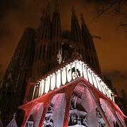 Sagrada Familia at night