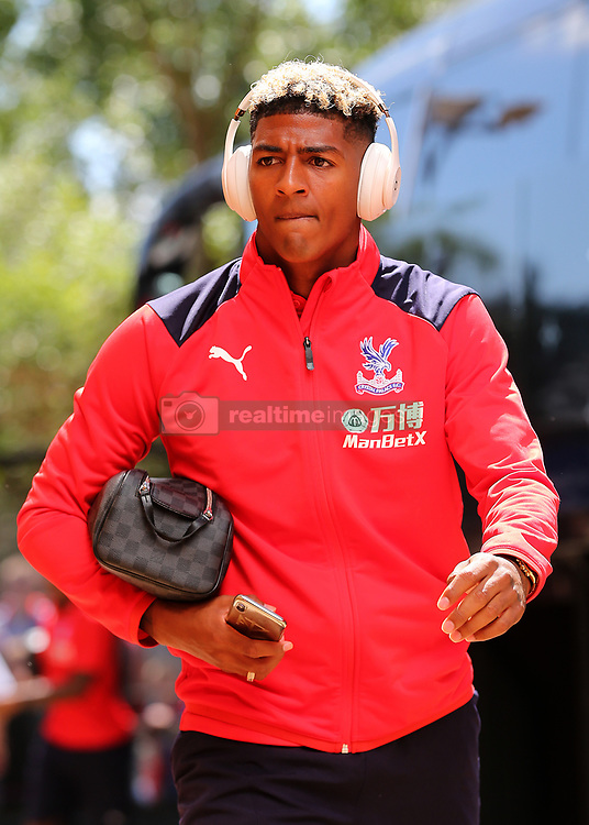 """Crystal Palaces Patrick van Aanholt arrives at Madejski Stadium during the pre-season friendly match at the Madejski Stadium, Reading. PRESS ASSOCIATION Photo. Picture date: Saturday July 28, 2018. See PA story SOCCER Reading. Photo credit should read: Mark Kerton/PA Wire. RESTRICTIONS: EDITORIAL USE ONLY No use with unauthorised audio, video, data, fixture lists, club/league logos or """"live"""" services. Online in-match use limited to 75 images, no video emulation. No use in betting, games or single club/league/player publications."""