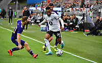 Football UEFA Champions League Q3<br /> Rosenborg - Maribor<br /> Lerkendal Stadium, Trondheim, Norway<br /> 13 August 2019<br /> <br /> Samuel Adegbenro, Rosenborg (H) og Dino Hotic, Maribor, i duell<br /> <br /> <br /> Foto : Arve Johnsen, Digitalsport