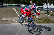 #41 (SUVOROVA Natalia) RUS during round 3 of the 2017 UCI BMX  Supercross World Cup in Zolder, Belgium,