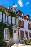 Traditional French house with shutters in Hautvillers near Epernay, Champagne-Ardenne, France