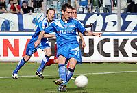 """Il gol su rigore di Luca Saudati (Empoli)<br /> Luca Saudati (Empoli) scores goal<br /> Italian """"Serie A"""" 2006-07 <br /> 01 Apr 2007 (Match Day 30)<br /> Empoli-Ascoli (4-1)<br /> """"Castellani"""" Stadium-Empoli-Italy<br /> Photographer Luca Pagliaricci INSIDE"""