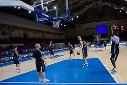 Players of Great Britain at practice  in Arena Torwar a day before the beginning of the Eurobasket 2009, on September 06, 2009 in Warsaw, Poland. (Photo by Vid Ponikvar / Sportida)