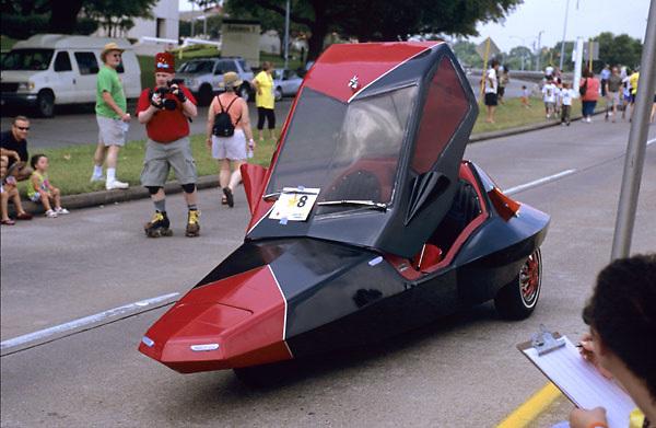 Stock photo of a futuristic looking car
