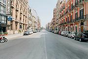 Corso Vittorio Emanuele durante la quarantena dovuta all'emergenza sanitaria Covid19. Bari 13 Aprile 2020. Christian Mantuano / OneShot