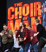 THE CHOIR OF MAN  performing at westend live trafalgar square london photo by Roger Alacron