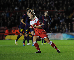 Bristol Academy Womens' Nikki Watts  celebrates her goal - Photo mandatory by-line: Dougie Allward/JMP - Mobile: 07966 386802 - 13/11/2014 - SPORT - Football - Bristol - Ashton Gate - Bristol Academy Womens FC v FC Barcelona - Women's Champions League