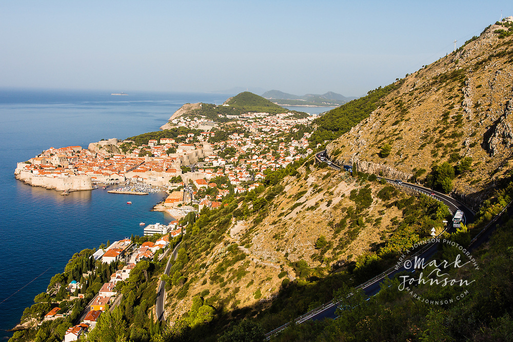 Dubrovnik, Croatia from the hills above the city