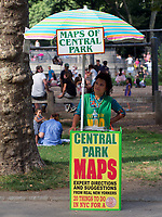 Volunteer to give visitors directions in Central park, New York City
