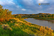 The Little Missouri River in Theodore Roosevelt National Park, North Dakota, USA