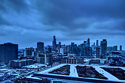 February 2015 - The City of Chicago skyline is like none other.  Skyscrapers include the Trump Tower, Willis (formerly Sears) Tower, Hancock Building, Prudential Building, Standard Oil (Amoco) Building and many more.  Navy Pier, Soldier Field, United Center, and others are often included as is the odd old bridge known as the bascule railroad bridge. It takes many landmarks to make a city. Add the variety of weather conditions and the skyline changes day to day if not quicker.<br />