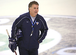 Head coach Doug Shedden at practice of Finland national team at Hockey IIHF WC 2008 in Halifax,  on May 04, 2008 in Forum Centre, Halifax, Nova Scotia, Canada.  (Photo by Vid Ponikvar / Sportal Images)