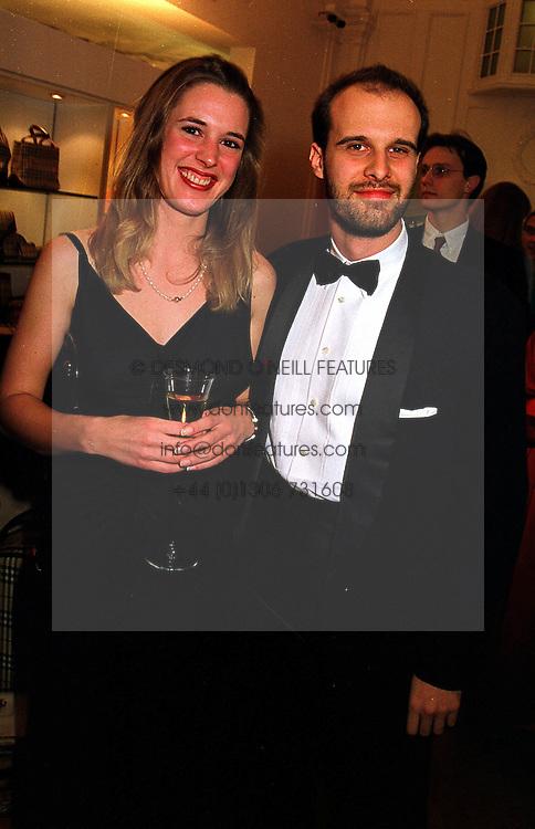 MR EDOARDO PONTI son of actress Sophia Loren and MISS LIES MACULAN, at a reception in London on 17th November 1999.MZC 46