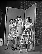 Special for Gael Linn - West Indian Dancers for Ceili - Cleo Dupont and Ena Ball dance with Breandan O'Dubhghaill.21/01/1959