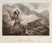 African Hunter (Chasseur Africain) 1818 Lithography by Horace Vernet (French, 1789-1863)