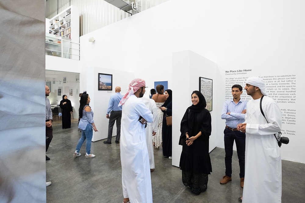 Installation of No Place Like Home at Gulf Photo Plus in Dubai, UAE. Photo by Ismail Noor / Seeing Things Photography.