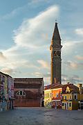 Chiesa di San Martino, Burano, Venice, Italy, Europe