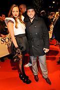 Premiere van de film Sonny Boy op maandag 17 januari in het Circus Theater in Scheveningen.<br /> <br /> Op de foto:<br /> <br />  Carolien Spoor en Jon Karthaus