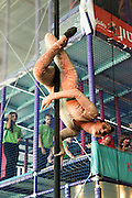 Urban Circus Act in a shopping Mall Trapeze