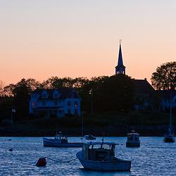Jonesport Harbor after sunset.  Jonesport, Maine.