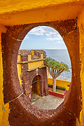 fortifications of Saint Tiago Fortress, Funchal, Madeira.