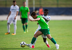 Chibueze Gerald Diyoke of NK Krsko vs Matic Povh of ND Ilirija during football match between ND Ilirija 1911 and NK Krsko in 1st Round of Slovenian Football Cup 2017/18, on August 16, 2017 in Stadium Ilirija, Ljubljana, Slovenia. Photo by Vid Ponikvar / Sportida