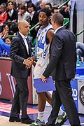 DESCRIZIONE : Campionato 2014/15 Dinamo Banco di Sardegna Sassari - Openjobmetis Varese<br /> GIOCATORE : Stefano Sardara Jerome Dyson<br /> CATEGORIA : Fair Play<br /> SQUADRA : Dinamo Banco di Sardegna Sassari<br /> EVENTO : LegaBasket Serie A Beko 2014/2015<br /> GARA : Dinamo Banco di Sardegna Sassari - Openjobmetis Varese<br /> DATA : 19/04/2015<br /> SPORT : Pallacanestro <br /> AUTORE : Agenzia Ciamillo-Castoria/L.Canu<br /> Predefinita :