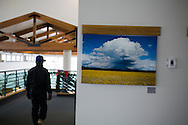 Flagstaff's pullium field airport waiting room