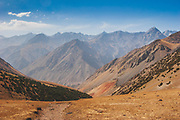 The peace and remoteness of the Pamir & Tian Shan mountain near the Kyrgyz and Tajik borders