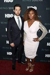 """Alex Ohanian and Serena Williams attend the HBO premiere of """"Being Serena"""" at the Time Warner Center in New York."""