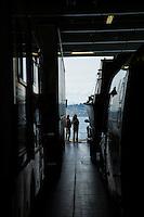Ferrying between San Juan Islands, Washington.