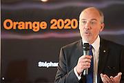 Brussels 10 May 2016<br /> <br /> Press conference by the telecommunication operator Orange <br /> <br /> Pix : Stephane Richard , CEO Orange Group <br /> <br /> Credit Denis Closon / Isopix