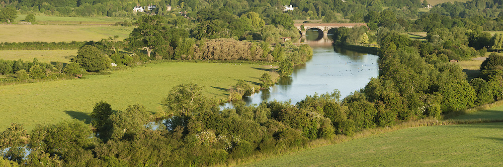 River Thames and Goring Viaduct from Hartslock Nature Reserve, Goring