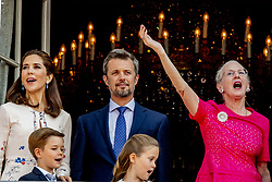 Crown Prince Frederik, Crown Princess Mary, Queen Margrethe, Prince Vincent and Princess Josephine celebrate 50th birthday of Crown Prince Frederik at the royal palace in Copenhagen, Denmark, on May 26, 2018. Photo by Robin Utrecht/ABACAPRESS.COM