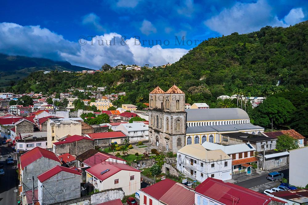 France, Martinique, Saint-Pierre, la cathedrale Notre Dame du Bon Port // France, Martinique, Saint-Pierre,  Notre Dame du Bon Port cathedral