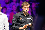 Feeling the pressure. Jack Lisowski making his 1st finals appearance since April 2019 at the World Snooker 19.com Scottish Open Final Mark Selby vs Jack Lisowski at the Emirates Arena, Glasgow, Scotland on 15 December 2019.