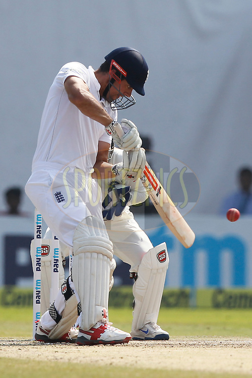 Alastair Cook Captain of England bats during day four of the 2nd test match between India and England in Vizag held at the Dr. Y.S. Rajasekhara Reddy ACA-VDCA Cricket Stadium on the 20th November 2016.<br /> <br /> Photo by: Deepak Malik/ BCCI/ SPORTZPICS
