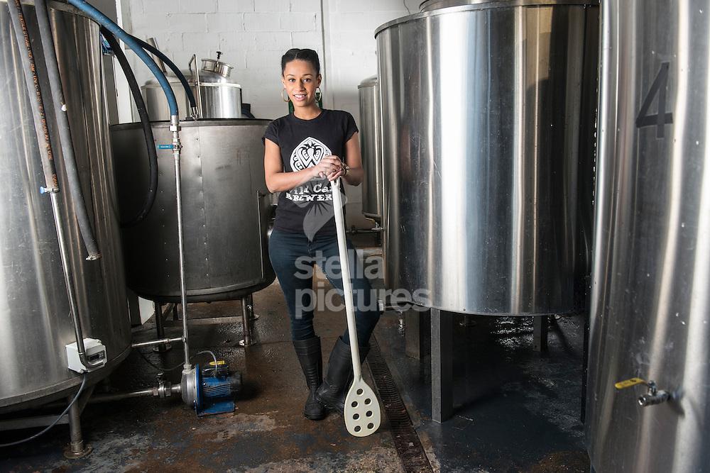 Jaega Wise - head brewer of Wild Card Brewery.<br /> Picture by Daniel Hambury/Stella Pictures Ltd +44 7813 022858<br /> 16/02/2016