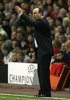 Photo: Paul Thomas.<br /> Liverpool v Bordeaux. UEFA Champions League, Group C. 31/10/2006.<br /> <br /> Rafael Benitez, Liverpool manager.