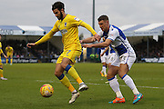 AFC Wimbledon defender George Francomb (7) and Bristol Rovers defender Lee Brown (3) during the EFL Sky Bet League 1 match between Bristol Rovers and AFC Wimbledon at the Memorial Stadium, Bristol, England on 31 December 2016. Photo by Stuart Butcher.