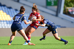 Daisy Mayes of Bristol Ladies is tackled by Megan Varley of Worcester Valkyries  - Mandatory by-line: Craig Thomas/JMP - 23/09/2017 - RUGBY - Sixways Stadium - Worcester, England - Worcester Valkyries v Bristol Ladies - Tyrrells Premier 15s