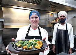 Jo Swinson, Wednesday, 27th November 2019<br /> <br /> Pictured: Liberal Democrat Leader Jo Swinson visited the Ashoka restaurant in Bearsden to talk about the threat Brexit poses to small businesses.<br /> <br /> Alex Todd | Edinburgh Elite media