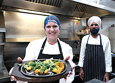 Jo Swinson visits Ashoka restaurant, Glasgow, 27 November 2019