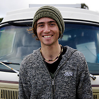 This young man had driven across the country in his VW Kombi and got stuck in some mud near Johanna Beach on the Great Ocean Road. I towed him out and took this picture.