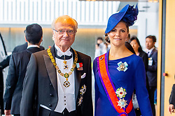 October 22, 2019, JAPAN: 22-10-2019 Inhuldiging Enthronement ceremony of Emperor Naruhito of Japan in Tokyo..Princess Victoria and King Carl Gustaf arrives at the Imperial Palace to attend the proclamation ceremony of Japans Emperor in Tokyo, Japan. (Credit Image: © face to face via ZUMA Press)