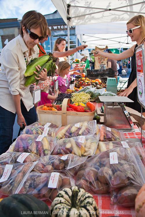 Locally grown, organic produce from Vicki's Veggies at the Wychwoodbarn farmers market in Toronto.