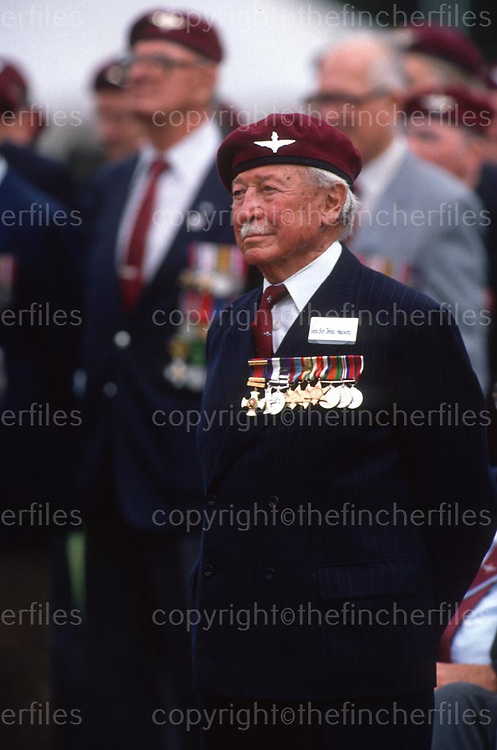 British Army General Sir John Hackett seen at Para 90 in London in July 1990. Australian born, he served in the British army in Palestine during World War 2. Photograph by Terry Fincher