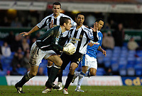 Photo: Leigh Quinnell.<br /> Birmingham City v Newcastle United. The FA Cup. 06/01/2007. Newcastle goalkeeper Shay Given pulls off another save.