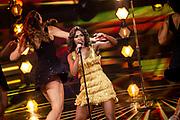 Tweede liveshow van het tiende seizoenThe voice of Holland .<br /> <br /> Op de foto: Tina Turner de Musical met Nyassa Alberta